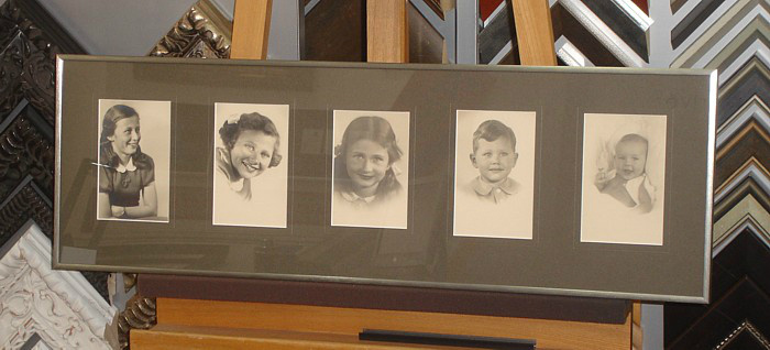 Collage kinderfoto's uit 1938