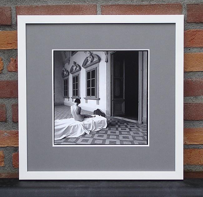 Prachtige zwart-wit foto ingelijst