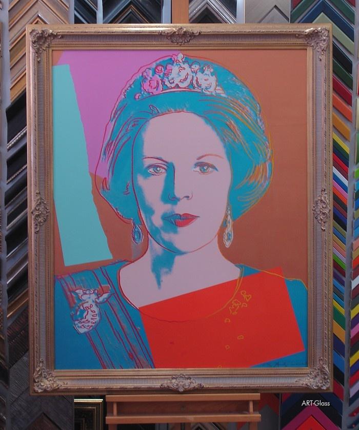 Zeefdruk Andy Warhol ingelijst