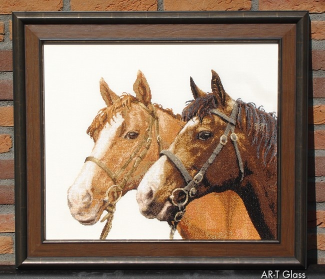 Borduurwerk paarden