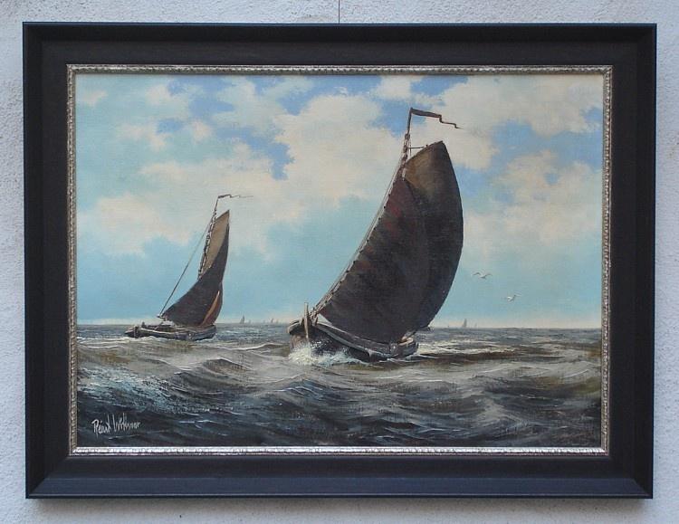 Ingelijst olieverf schilderij van de hand van Reint Withaar
