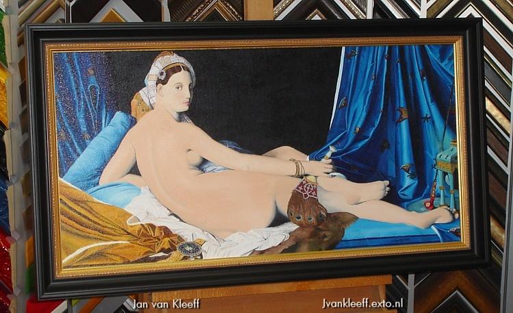 Naar La Grande Odalisque van Jean Ingres