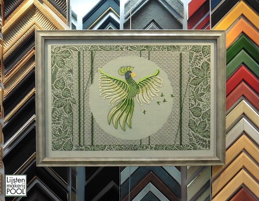 Prachtig borduurwerk ingelijst van Anneke Haisma
