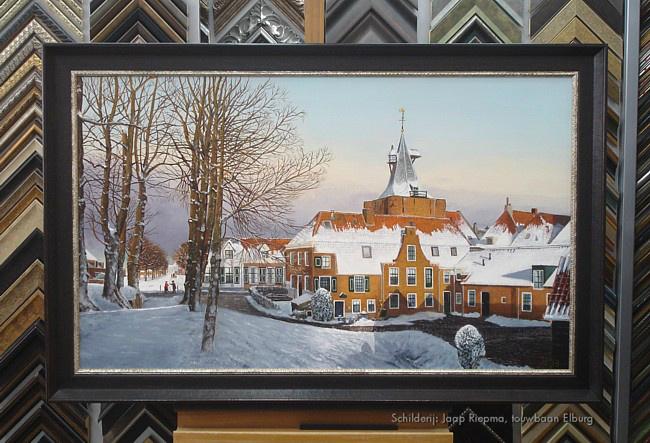 Ingelijst olieverfschilderij Jaap Riepma
