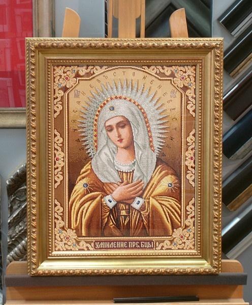 Prachtige madonna ingelijst in bijpassende lijst