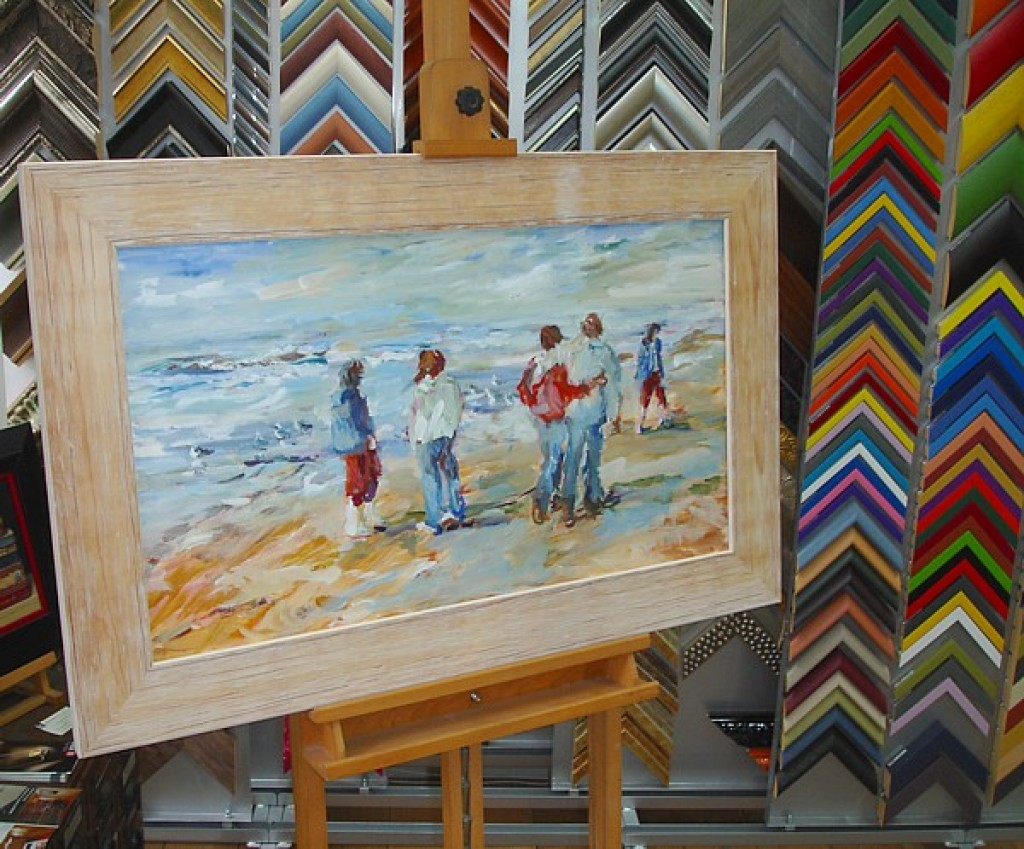 Schilderij Strandgezicht
