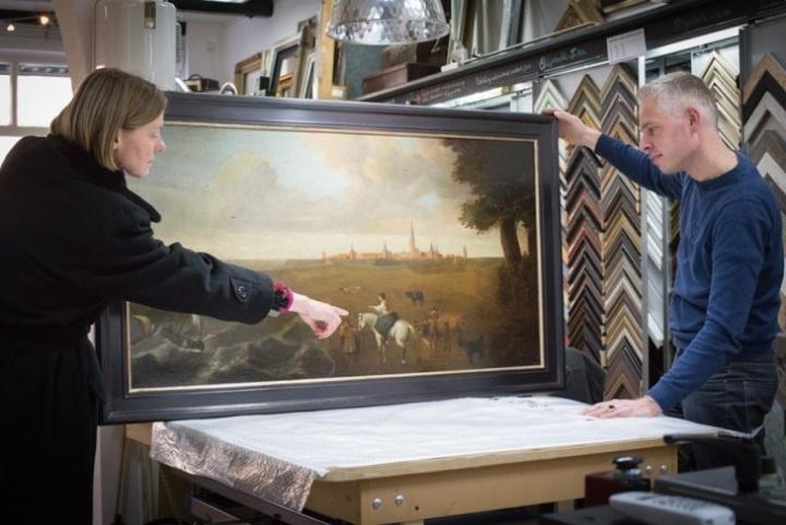 Handgekleurde atelierlijst voor Museum Elburg