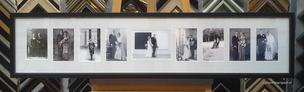 Collage trouwfoto's ingelijst