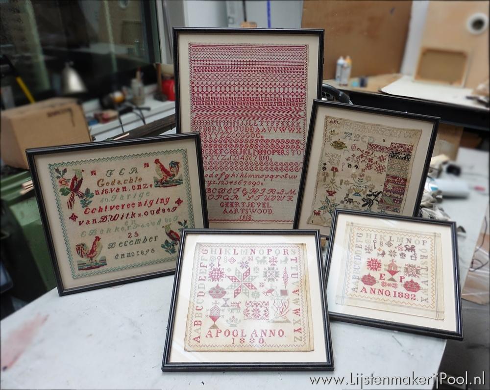 Antieke handwerken op museumniveau ingelijst