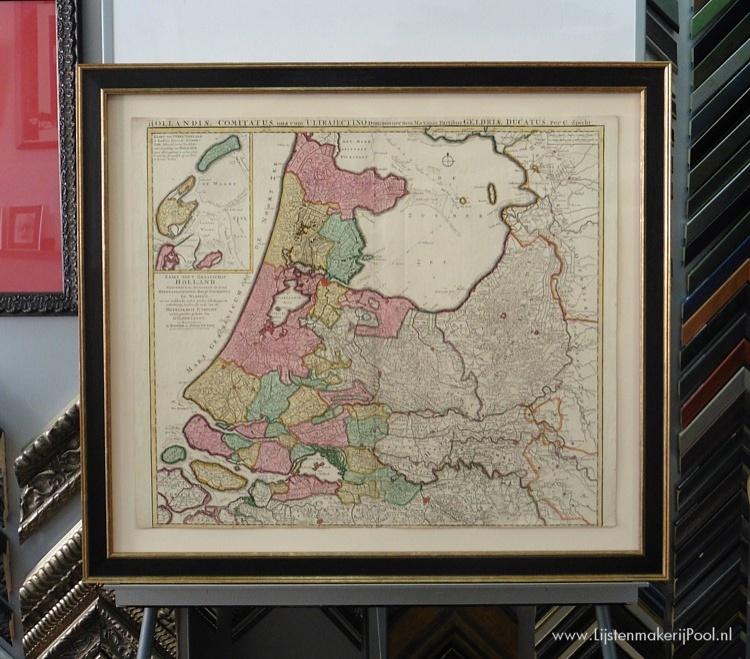 Landkaart 17e eeuw