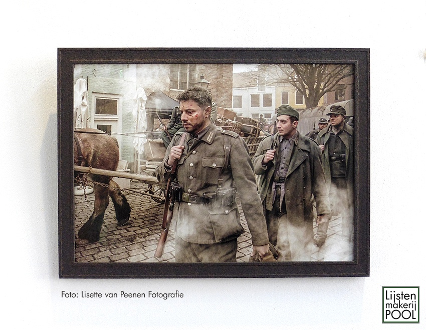"""Foto """"Slag om de Schelde"""" ingelijst in stoere """"roestlook"""" lijst"""