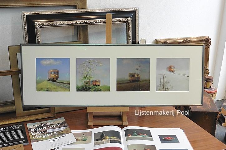 Collage inlijsting prenten Rein Pol
